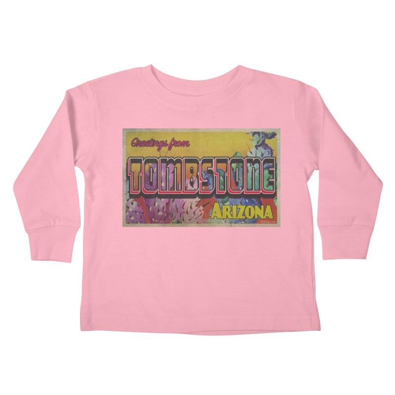 Tombstone, AZ Kids Toddler Longsleeve T-Shirt by Nuttshaw Studios