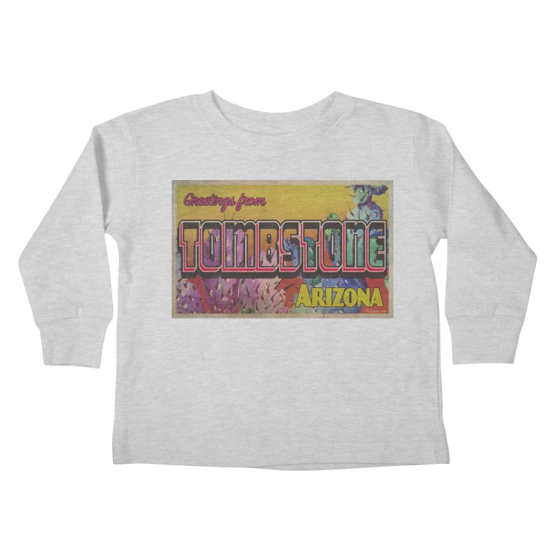 Tombstone, AZ Kids Toddler Longsleeve T-Shirt by Nuttshaw Studios