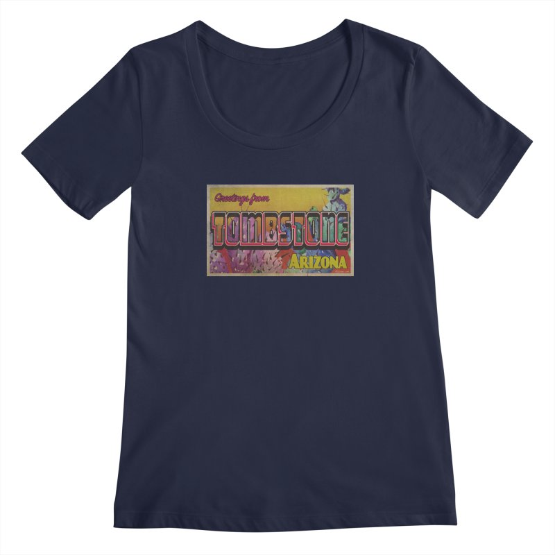 Tombstone, AZ Women's Regular Scoop Neck by Nuttshaw Studios