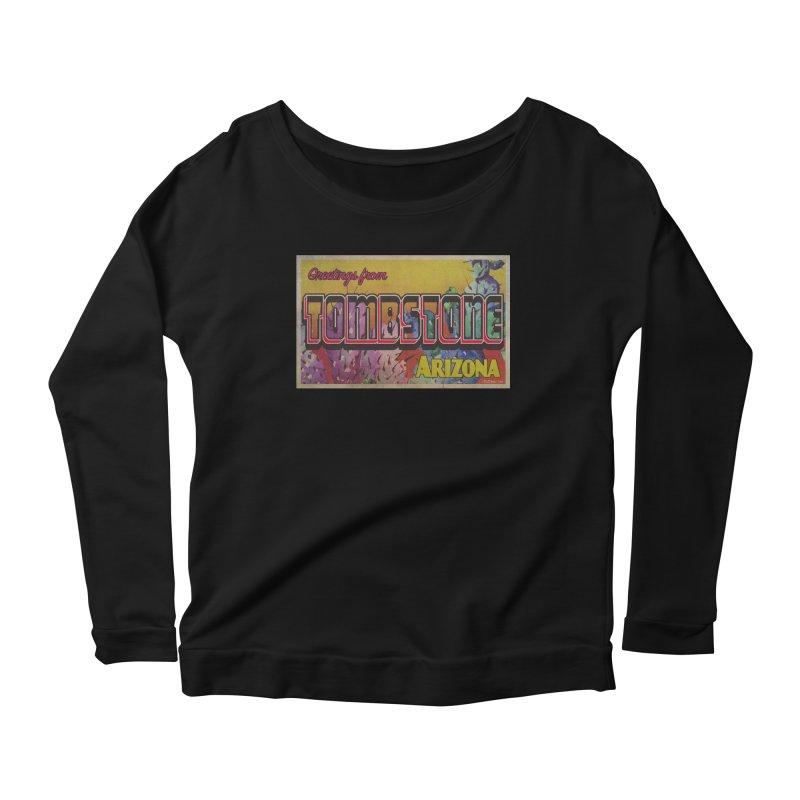 Tombstone, AZ Women's Scoop Neck Longsleeve T-Shirt by Nuttshaw Studios