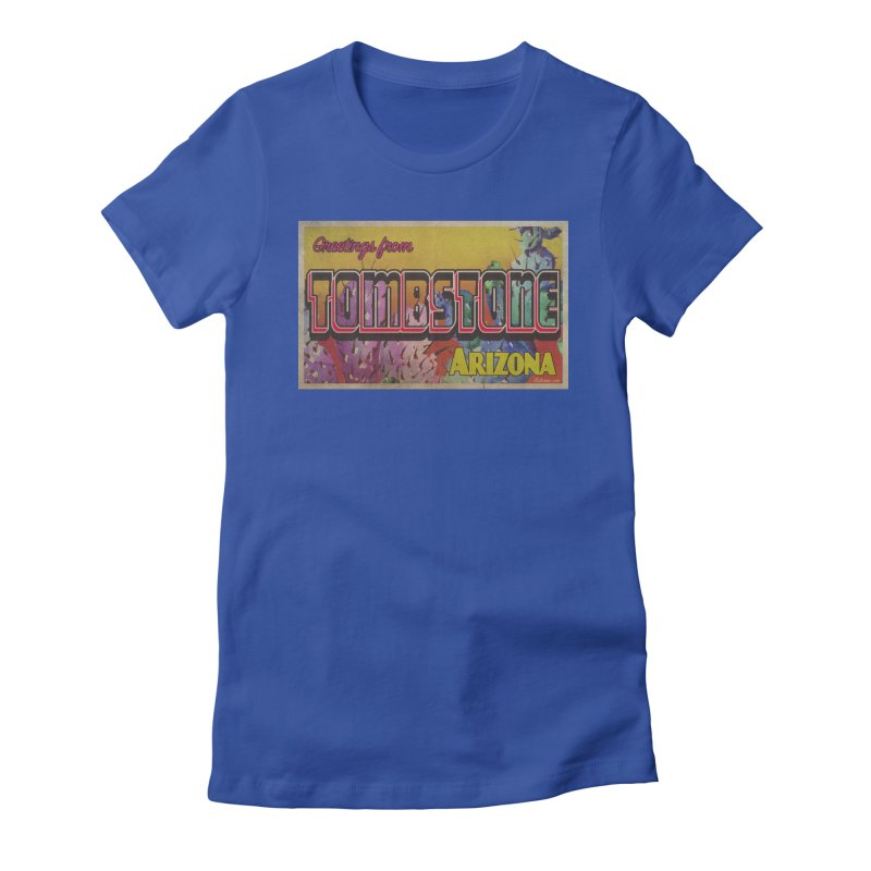 Tombstone, AZ Women's Fitted T-Shirt by Nuttshaw Studios