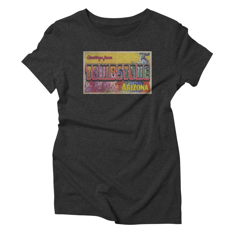 Tombstone, AZ Women's Triblend T-Shirt by Nuttshaw Studios