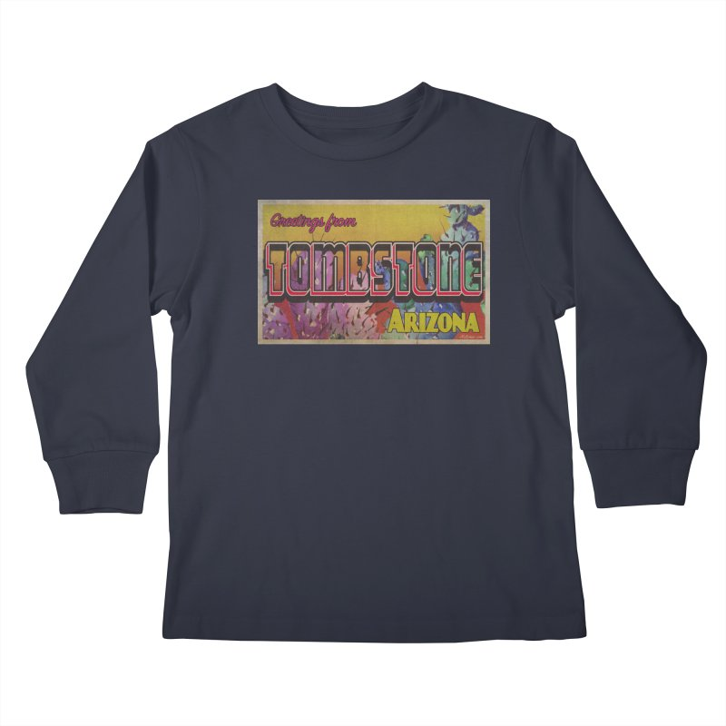 Tombstone, AZ Kids Longsleeve T-Shirt by Nuttshaw Studios