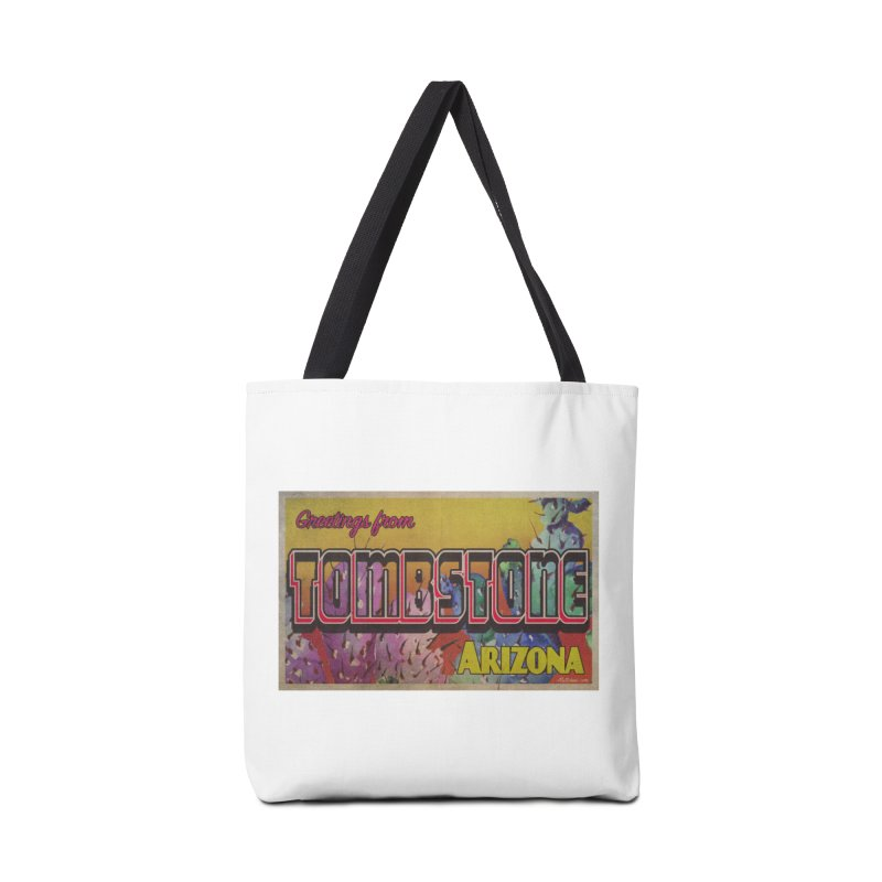 Tombstone, AZ Accessories Bag by Nuttshaw Studios