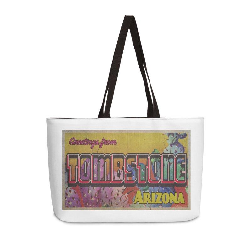 Tombstone, AZ Accessories Weekender Bag Bag by Nuttshaw Studios