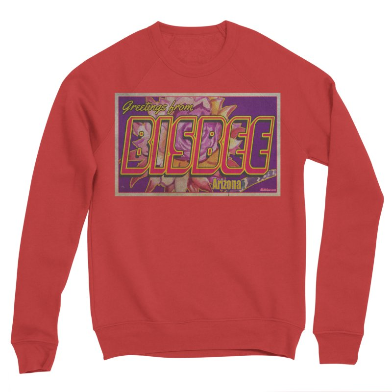 Bisbee, AZ. Women's Sponge Fleece Sweatshirt by Nuttshaw Studios