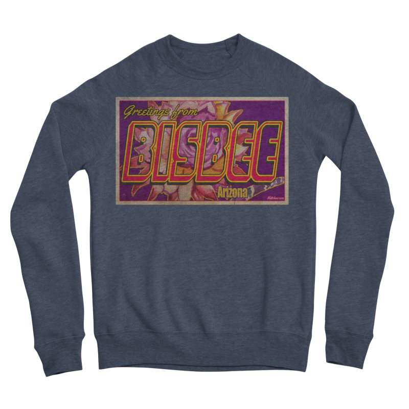 Bisbee, AZ. Women's Sponge Fleece Sweatshirt by Nuttshaw Studios