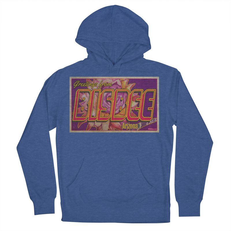 Bisbee, AZ. Women's French Terry Pullover Hoody by Nuttshaw Studios
