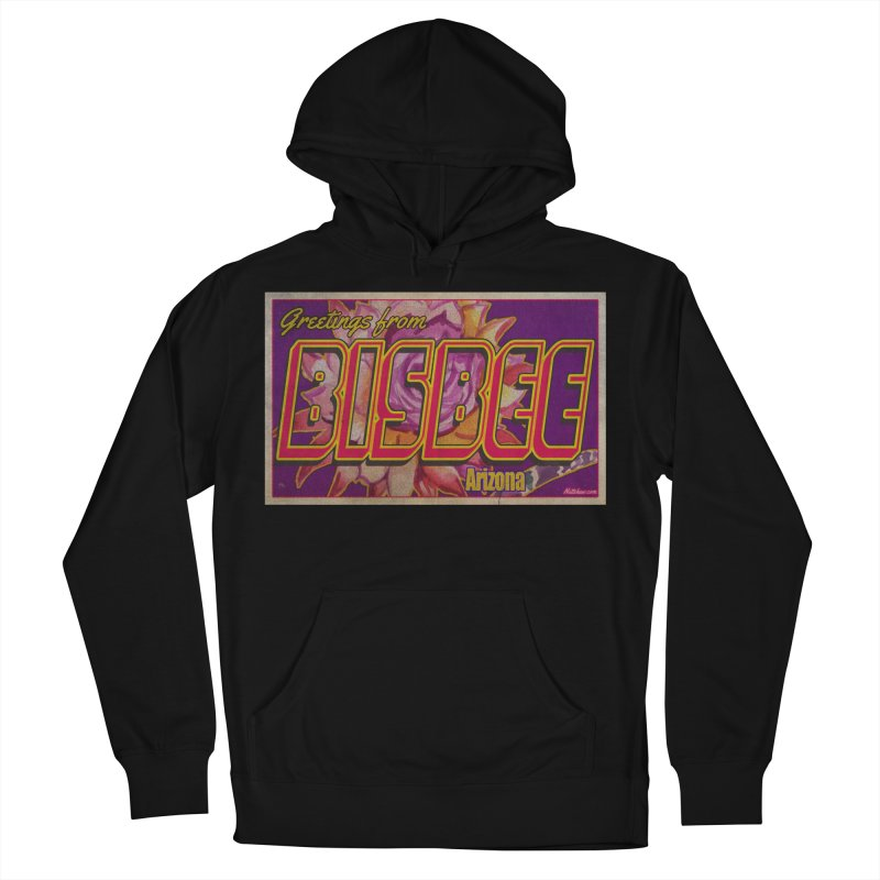 Bisbee, AZ. Men's French Terry Pullover Hoody by Nuttshaw Studios