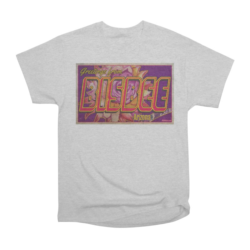 Bisbee, AZ. Women's Heavyweight Unisex T-Shirt by Nuttshaw Studios