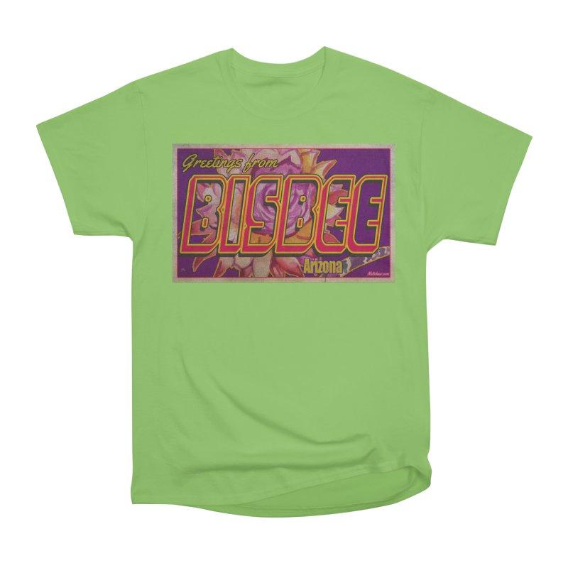 Bisbee, AZ. Women's Heavyweight Unisex T-Shirt by Nuttshaw Studios