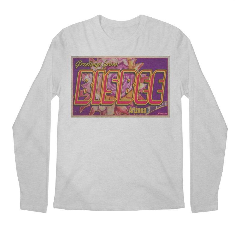 Bisbee, AZ. Men's Regular Longsleeve T-Shirt by Nuttshaw Studios