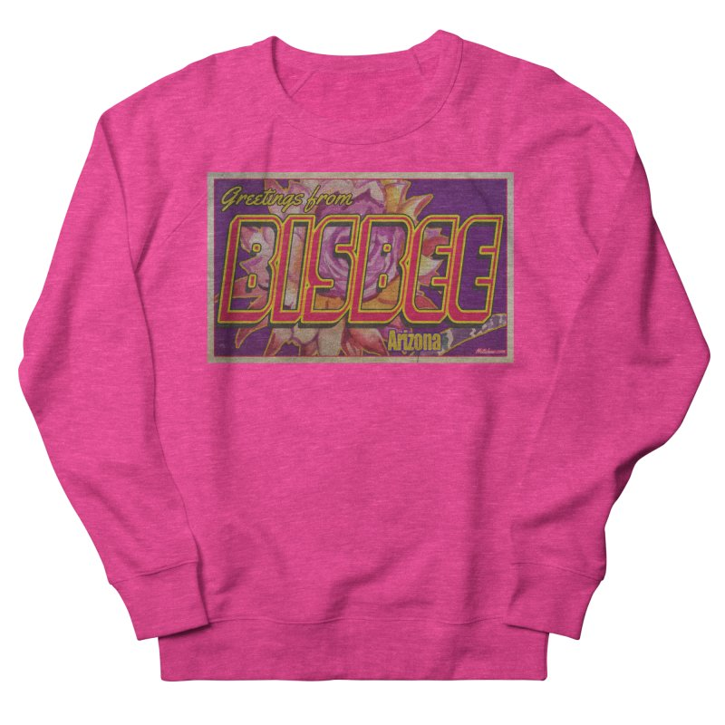 Bisbee, AZ. Women's French Terry Sweatshirt by Nuttshaw Studios