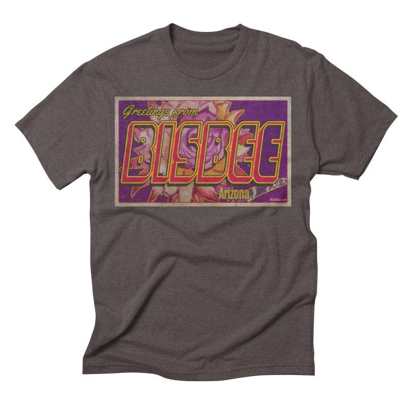 Bisbee, AZ. Men's Triblend T-Shirt by Nuttshaw Studios