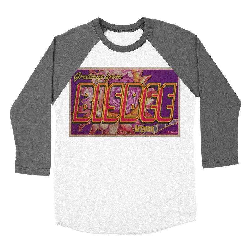 Bisbee, AZ. Women's Baseball Triblend Longsleeve T-Shirt by Nuttshaw Studios