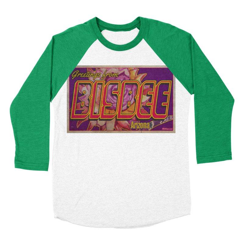Bisbee, AZ. Men's Baseball Triblend Longsleeve T-Shirt by Nuttshaw Studios