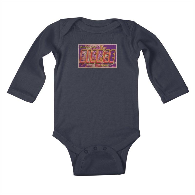 Bisbee, AZ. Kids Baby Longsleeve Bodysuit by Nuttshaw Studios