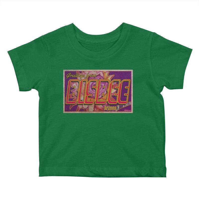 Bisbee, AZ. Kids Baby T-Shirt by Nuttshaw Studios