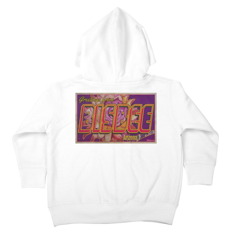 Bisbee, AZ. Kids Toddler Zip-Up Hoody by Nuttshaw Studios