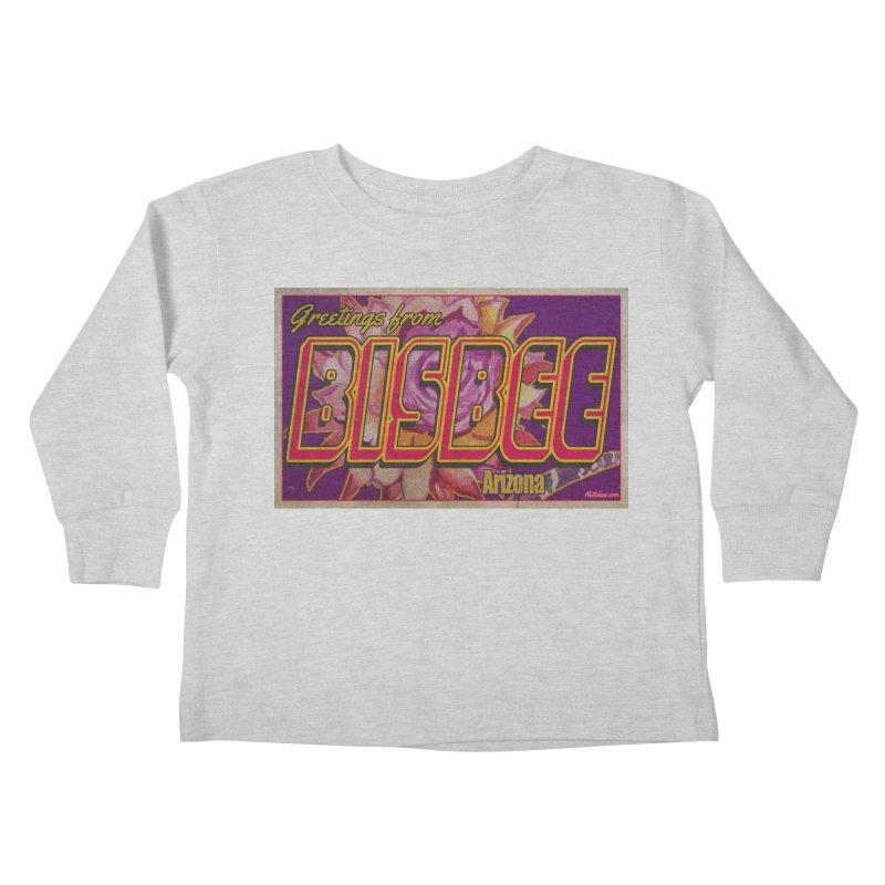 Bisbee, AZ. Kids Toddler Longsleeve T-Shirt by Nuttshaw Studios