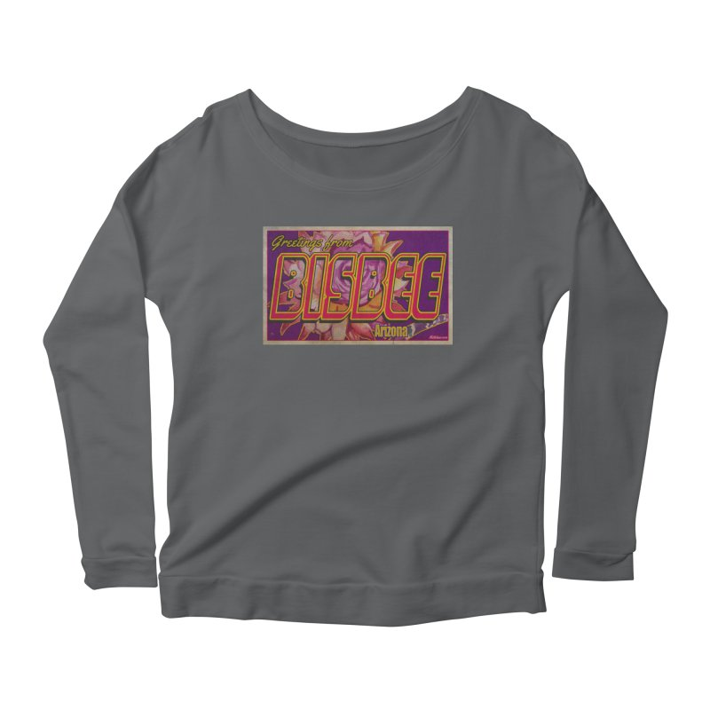 Bisbee, AZ. Women's Scoop Neck Longsleeve T-Shirt by Nuttshaw Studios