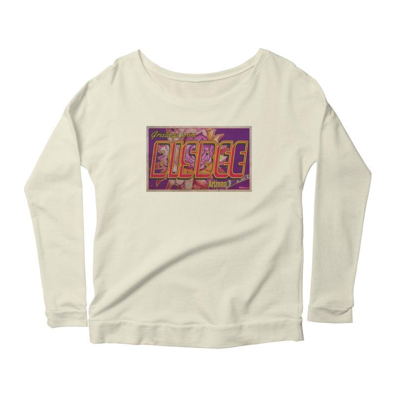 Bisbee, AZ. Women's Scoop Neck Longsleeve T-Shirt by Nuttshaw Studios