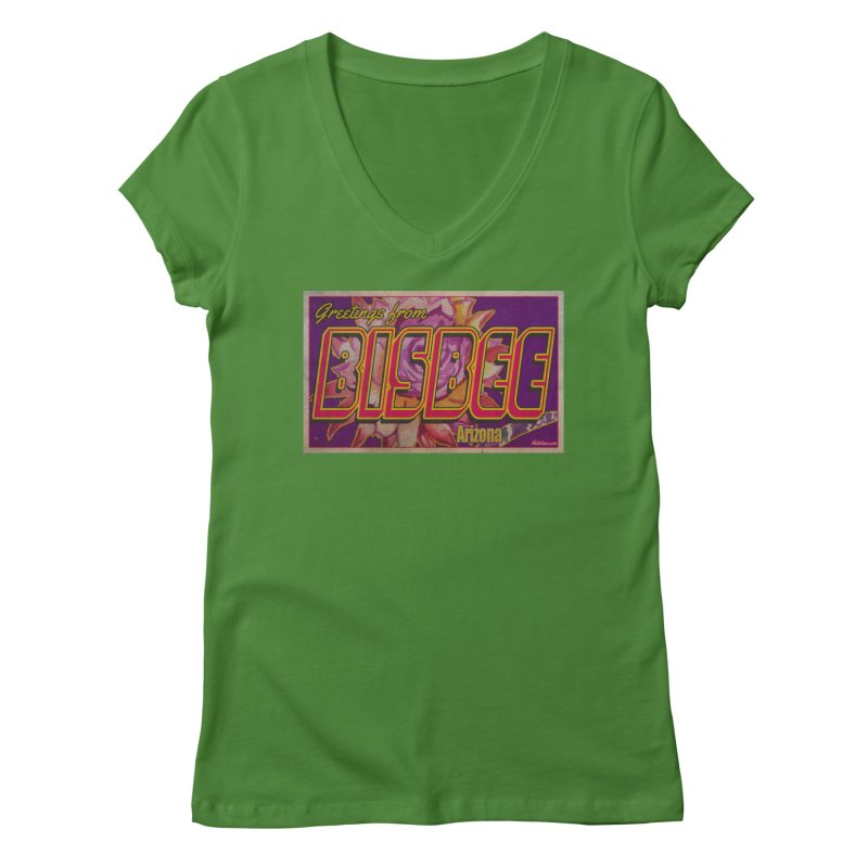 Bisbee, AZ. Women's Regular V-Neck by Nuttshaw Studios