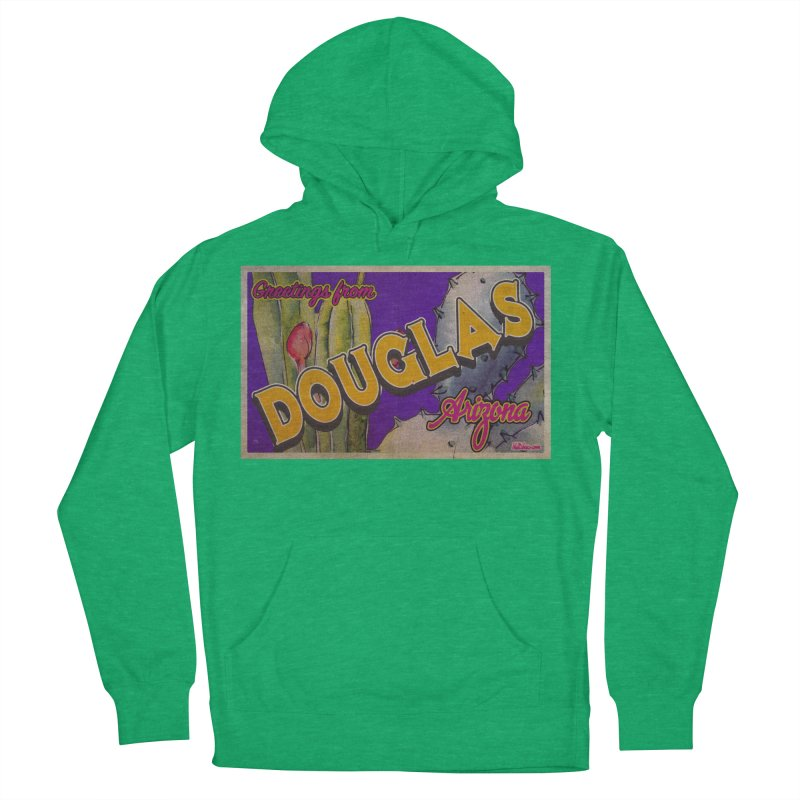 Douglas, AZ. Women's French Terry Pullover Hoody by Nuttshaw Studios