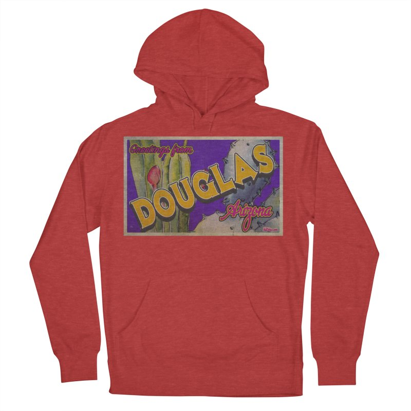 Douglas, AZ. Men's French Terry Pullover Hoody by Nuttshaw Studios
