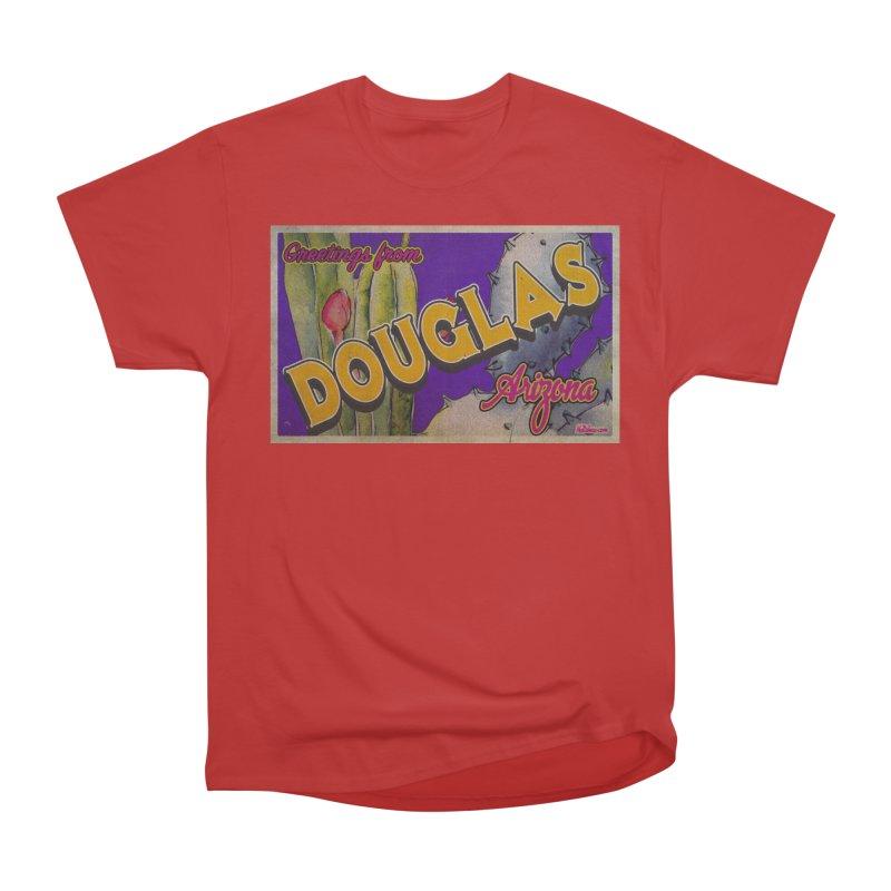 Douglas, AZ. Men's Heavyweight T-Shirt by Nuttshaw Studios