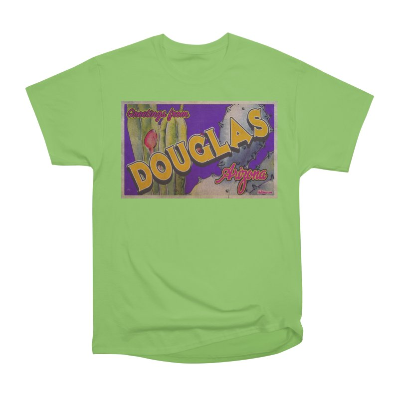 Douglas, AZ. Women's Heavyweight Unisex T-Shirt by Nuttshaw Studios