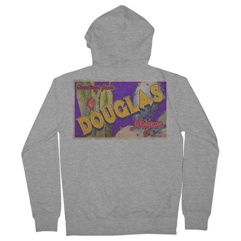 Douglas, AZ. Men's French Terry Zip-Up Hoody by Nuttshaw Studios
