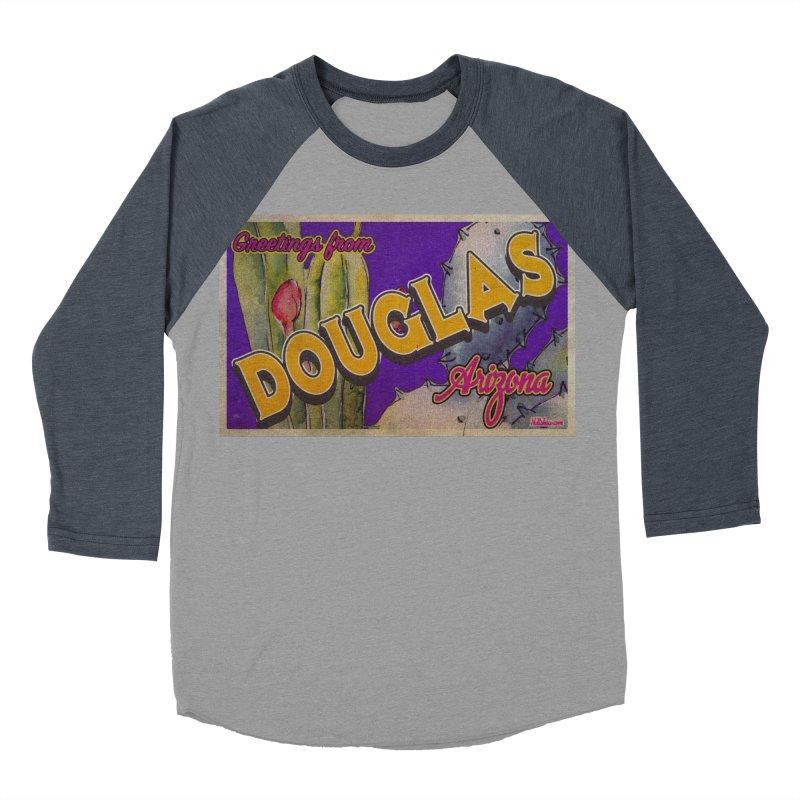Douglas, AZ. Women's Baseball Triblend Longsleeve T-Shirt by Nuttshaw Studios