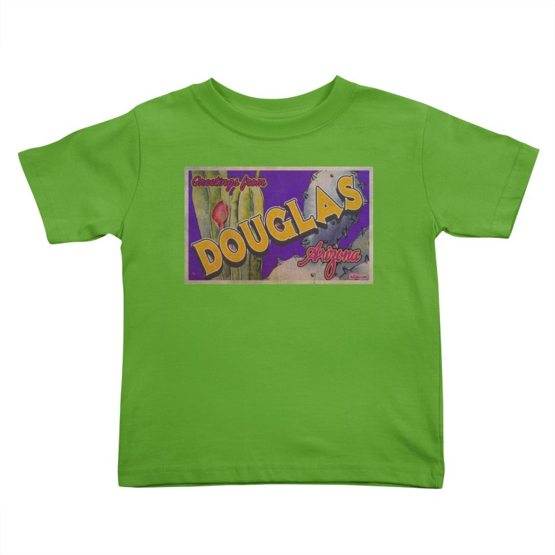Douglas, AZ. Kids Toddler T-Shirt by Nuttshaw Studios