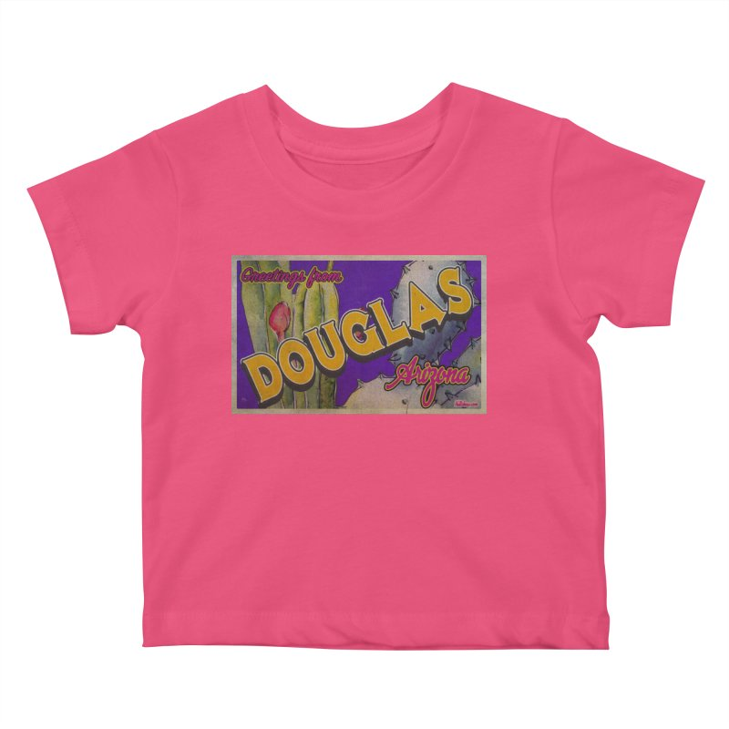 Douglas, AZ. Kids Baby T-Shirt by Nuttshaw Studios