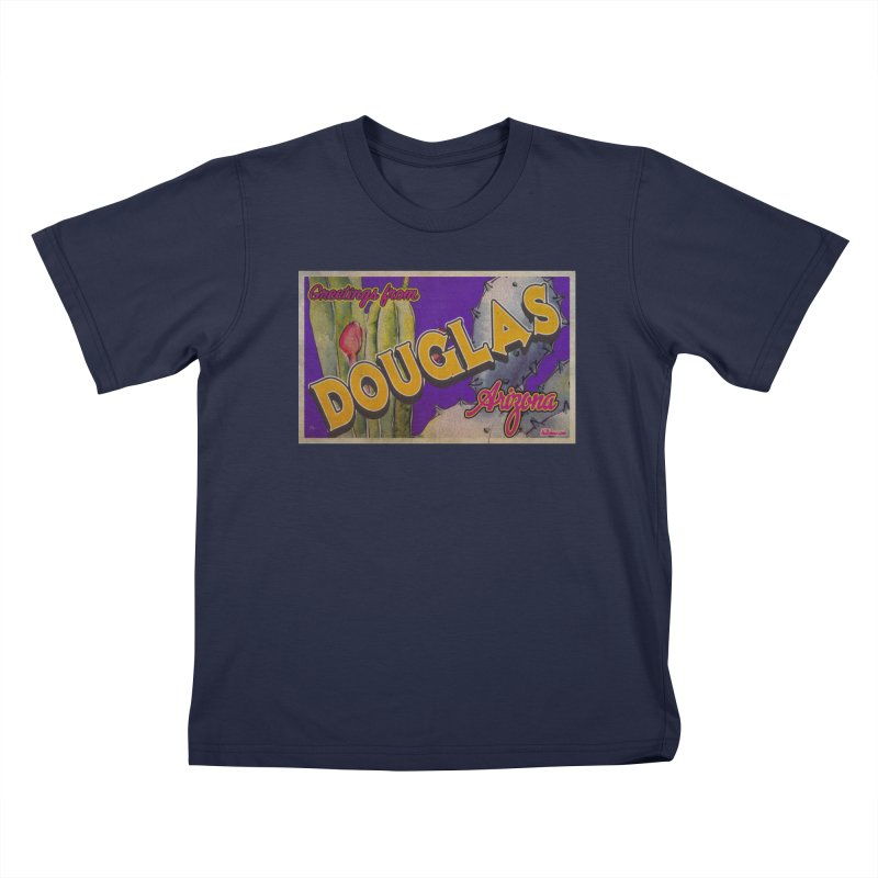 Douglas, AZ. Kids T-Shirt by Nuttshaw Studios