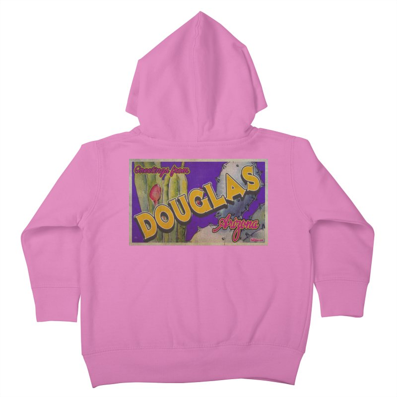 Douglas, AZ. Kids Toddler Zip-Up Hoody by Nuttshaw Studios
