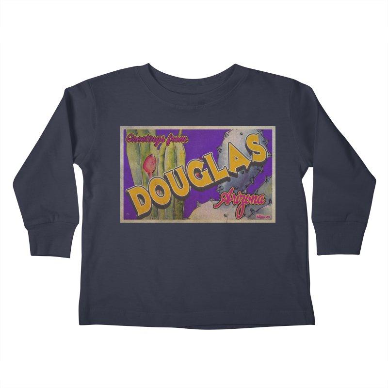 Douglas, AZ. Kids Toddler Longsleeve T-Shirt by Nuttshaw Studios