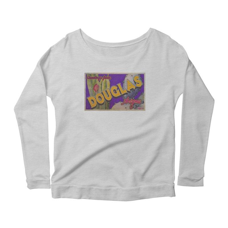 Douglas, AZ. Women's Scoop Neck Longsleeve T-Shirt by Nuttshaw Studios