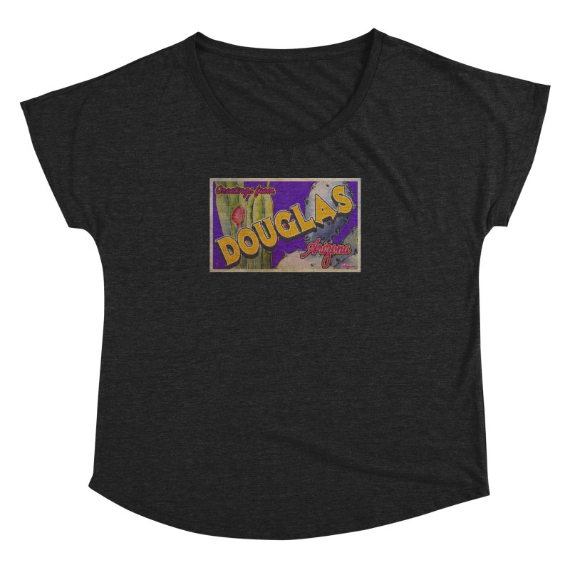 Douglas, AZ. Women's Dolman Scoop Neck by Nuttshaw Studios