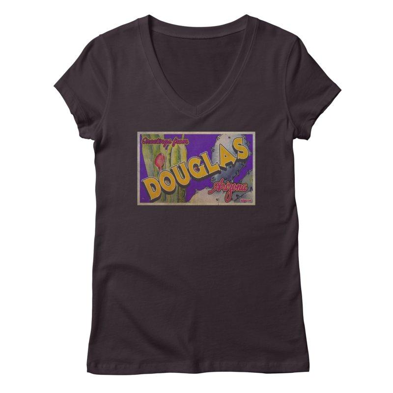 Douglas, AZ. Women's Regular V-Neck by Nuttshaw Studios