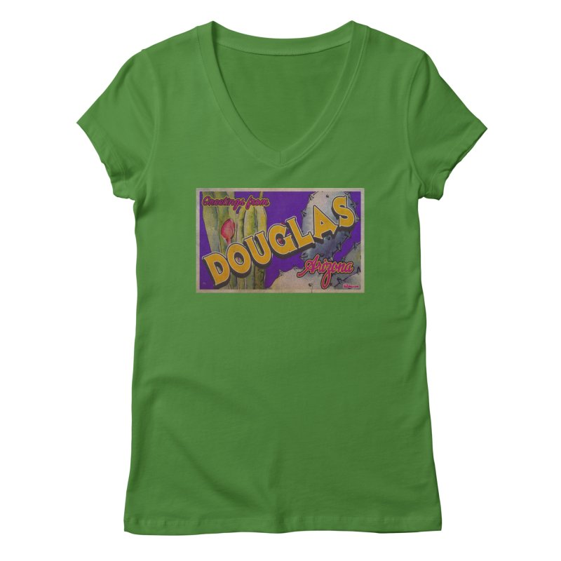 Douglas, AZ. Women's Regular V-Neck by Nuttshaw Studios