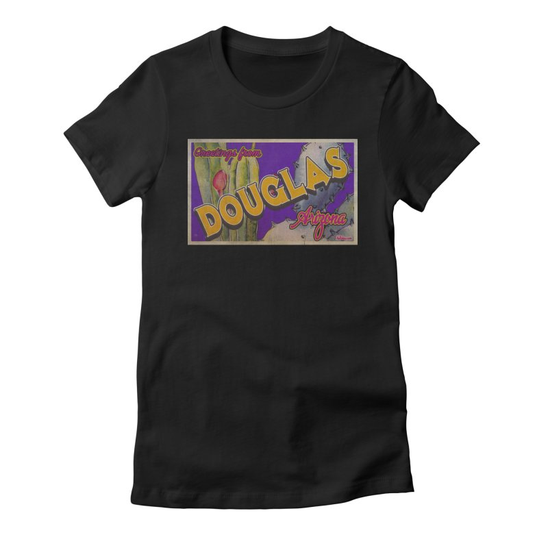 Douglas, AZ. Women's Fitted T-Shirt by Nuttshaw Studios