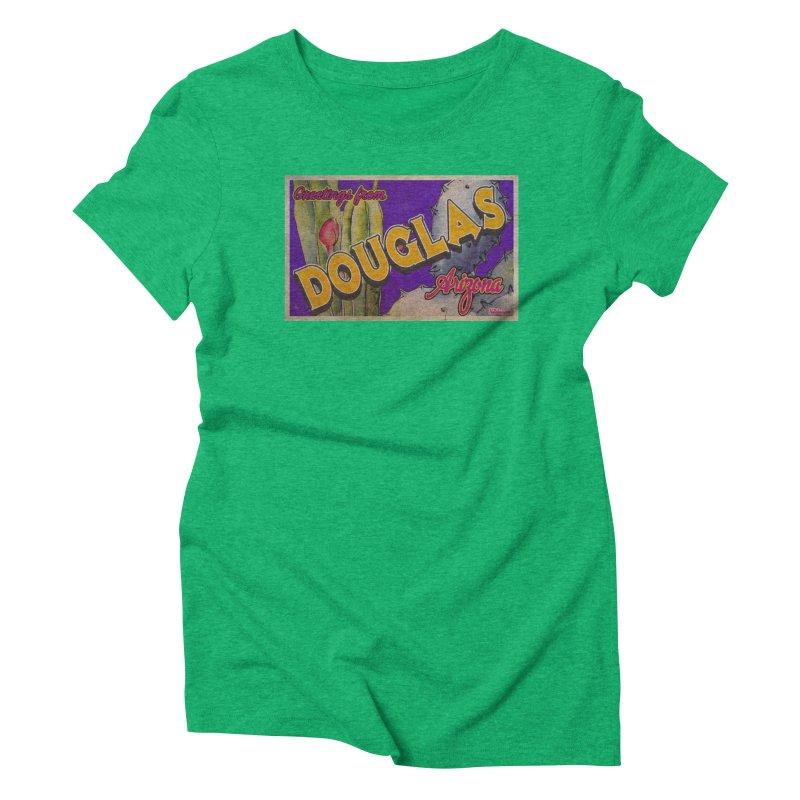 Douglas, AZ. Women's Triblend T-Shirt by Nuttshaw Studios