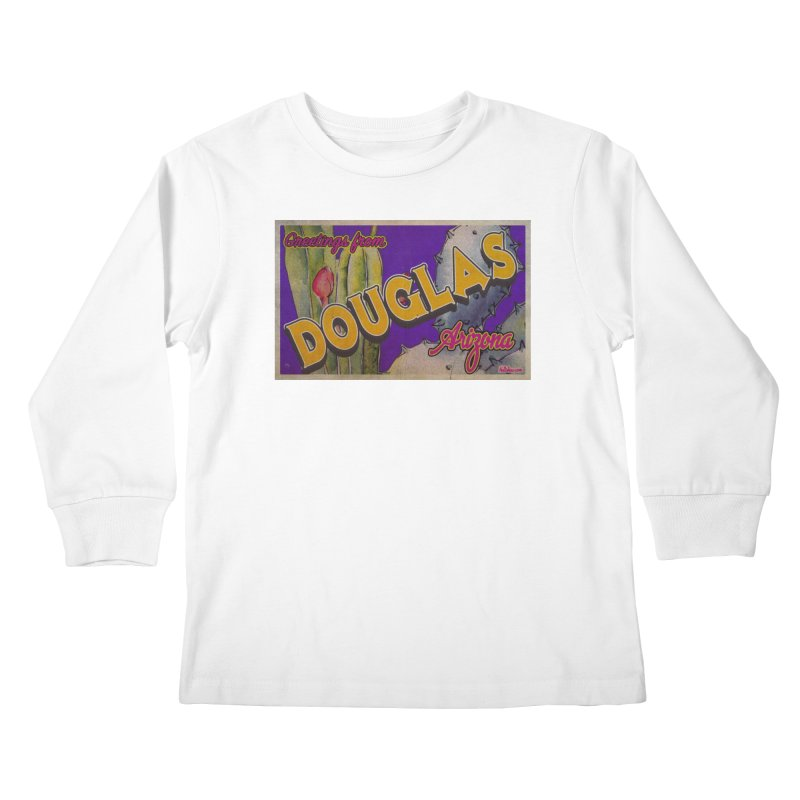Douglas, AZ. Kids Longsleeve T-Shirt by Nuttshaw Studios