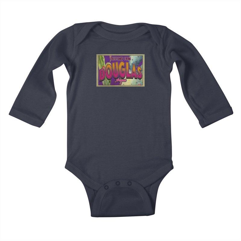 Douglas, AZ. Kids Baby Longsleeve Bodysuit by Nuttshaw Studios