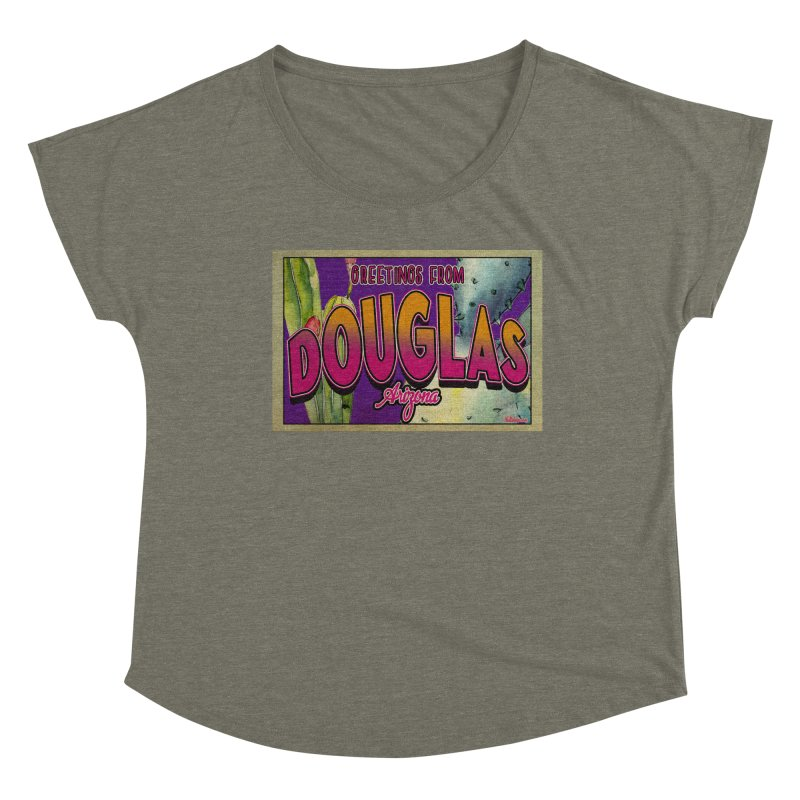 Douglas, AZ. Women's Scoop Neck by Nuttshaw Studios