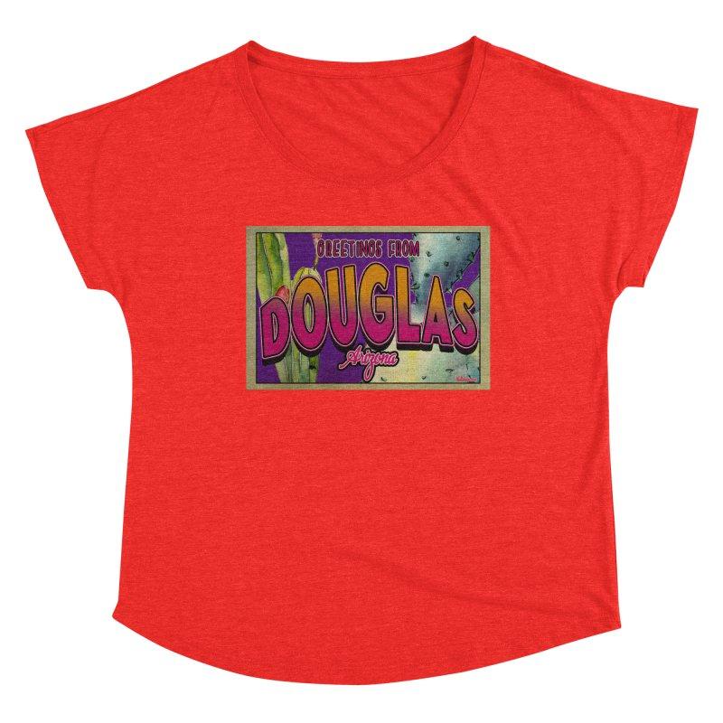 Douglas, AZ. Women's Scoop Neck by Nuttshaw Studios