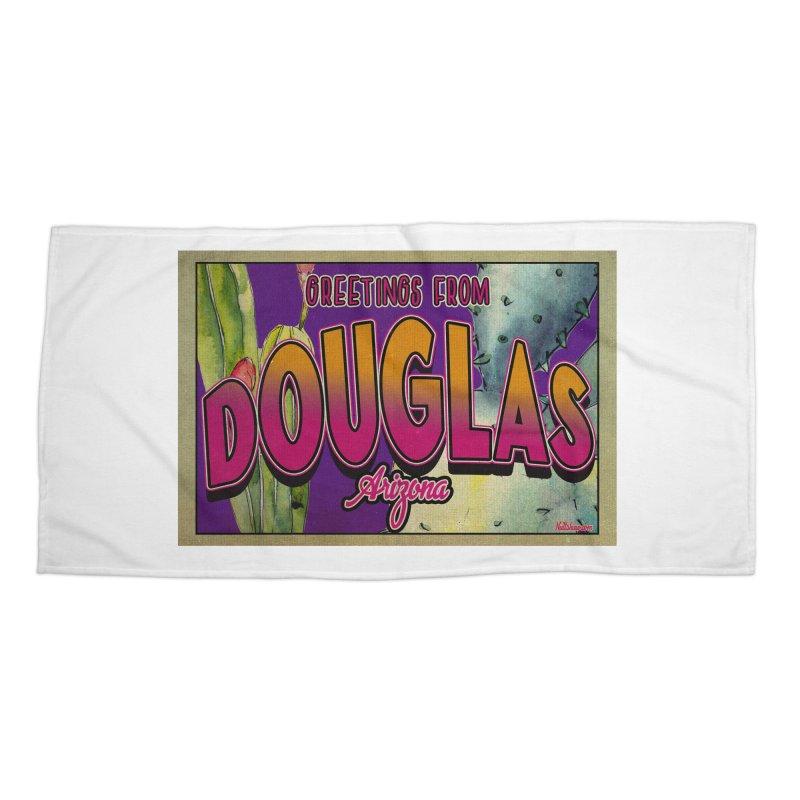 Douglas, AZ. Accessories Beach Towel by Nuttshaw Studios