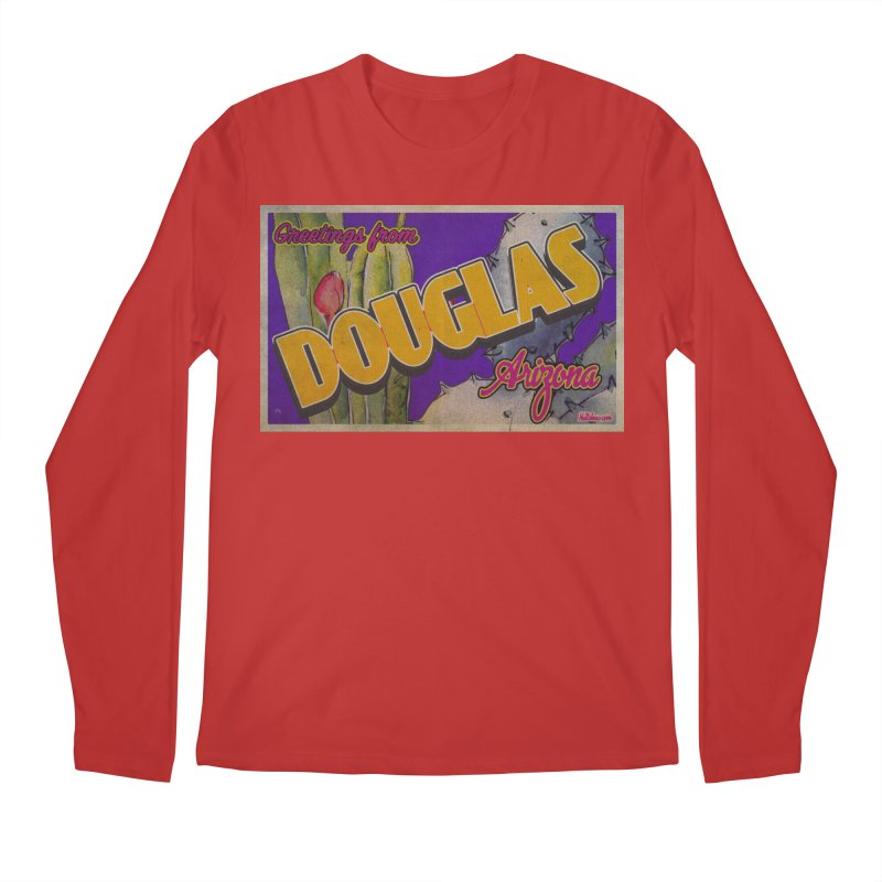 Douglas, AZ. Men's Regular Longsleeve T-Shirt by Nuttshaw Studios